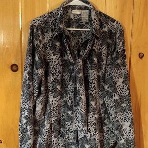 Ladies animal print blouse
